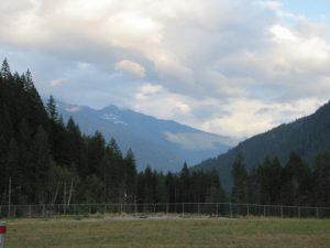 Blick von ihrem Haus in Kanada.