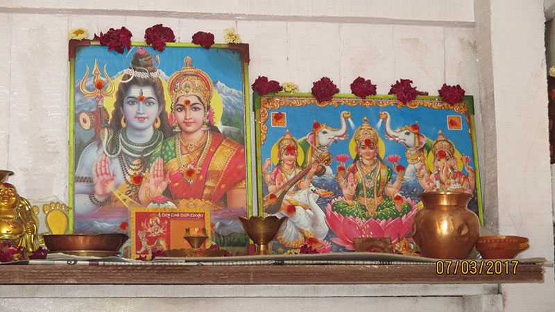 Shiva, Parvathi und Ganesha