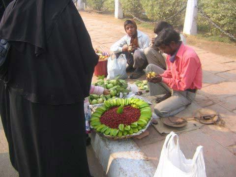 Früchteverkauf am India Gate Dehli