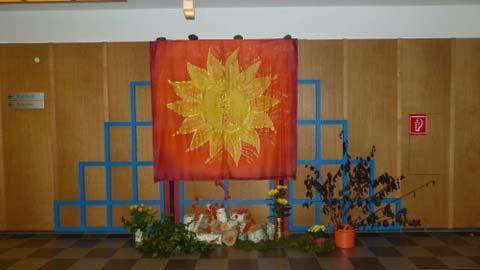 Mandala mit Blumenschmuck Festival 2014