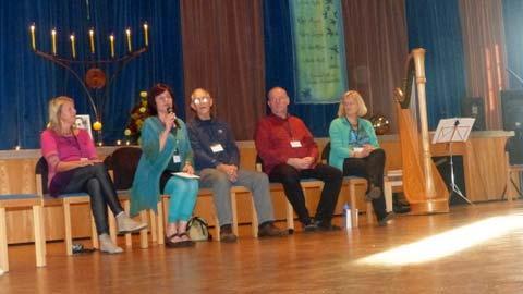Das Organisationsteam und Don eröffnen das Festival 2014