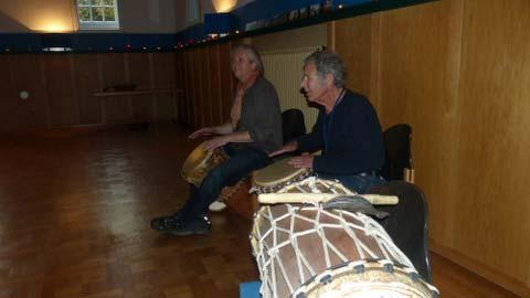 the music goes on - Dhanya and Ingo drumming