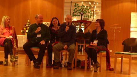Don Alexander mit dem Orga-Team Elfi, Peter und Krishna auf dem Meistertag