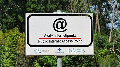 In Estland hat jeder Bürger und Besucher freien Zugang zum Internet